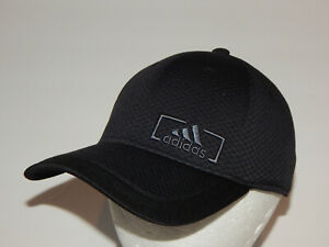 Adidas Amplifier Baseball Hat / Cap Black / Onix Size S/M Stretch Fit