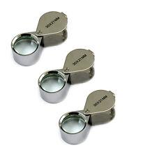 3PCS Jewelers Eye Loupes 30X21mm Dual Magnifier Loupe