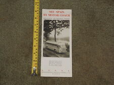 VINTAGE BROCHURE SEE SPAIN BY MOTOR COACH TOUR MADRID FIRST CLASS RESTAURANT