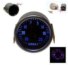 "UNIVERSAL BOOST GAUGE 7COLOR DISPLAY W/SMOKE LEN UP TO 20PSI 52MM/2.04"" SIZE POD"