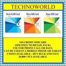 TELSTRA $10 PREPAID CREDIT SIM CARD+3G+14DAYS EXPIRY+STANDARD/MICRO/NANO SIZE