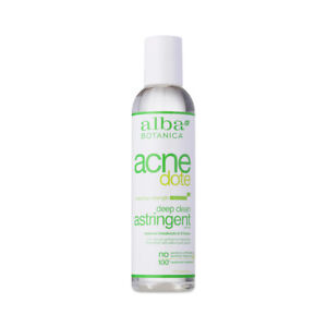 Alba Botanica Acne dote Deep Clean Astringent oily irritated skin spots vegan