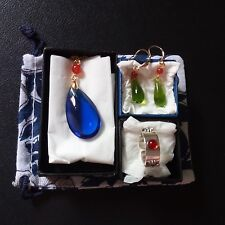 3set Howl's Moving Castle Cosplay Necklace & Earring & Ring Handmad Gift