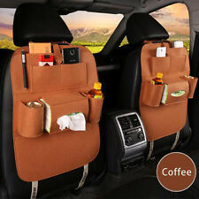 Universal Multi-Pocket Storage Bag Car Seat Back Hanger Holder Organizer Coffee