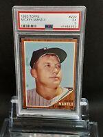 1962 Topps #200 Mickey Mantle - HOF - Yankees - PSA 5 - Ex - 41464552 - SCA