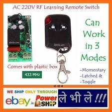 E93N AC 220V Volt Programmable Multi use 1 Way Channel RF Learning Remote Switch