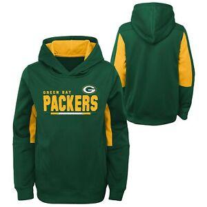 Green Bay Packers Long Season Kids Pullover Hoody, Green