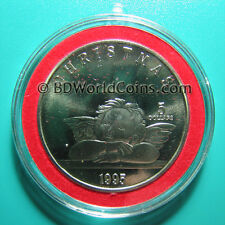 1995 MARSHALL ISLANDS $5 CHRISTMAS CHERUB PROOF-LIKE IN SPECIAL ORNAMENT CAPSULE