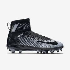 $130 Men Nike Force Lunarbeast Elite Football Lax Lacrosse Cleat Black Silver 10