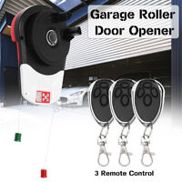 600N Electric Garage Roller Remote Door Opener Easy Install Reliable Motor Drive