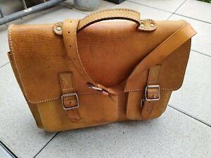 Aktentasche Schultasche Lehrertasche Umhängetasche Leder-Tasche Vintage