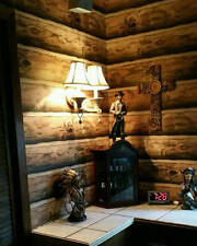Log Wallpaper Rustic Cabin Lodge Pre-Pasted bolt 60.75 sq.ft. made in the U.S.A.