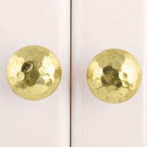 Hammered Gold Metal Cupboard Door Handle   Brass Cabinet Door Knob Pull Style 10