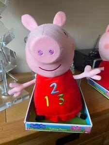 PEPPA PIG TALKING 123 Soft Toy Plush BRAND NEW!