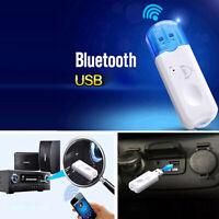 AUTO CAR WIRELESS USB BLUETOOTH ADAPTER MUSIC + CALL AUDIO RECEIVER HANDSFREE