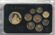 Finlandia euro Prestige coinset, Gold & rodio, 24 quilates de oro, nuevo, embalaje original, rara vez