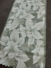 Vintage wallpaper white flowers with green background. Yes its green