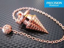 Bronze Psychic Wave Solid Metal Precision Pendulum with Chain Dowsing Divination