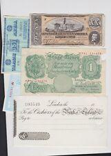 More details for seven old paper money & oddments in fine or better condition