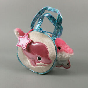 Aurora Fancy Pals Pet Carrier Dancing Dolphin Plush Animal Toy #32603 NWT