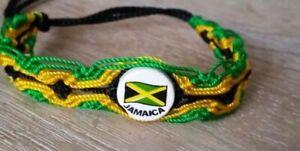 Jamaica Ceramic Friendship Bracelets Rasta Bolt Marley