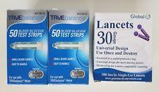 100 TRUE Balance Diabetic Test Strips Exp. 06/2019 NDC# 56151-0021-50 + Lancets