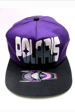 NEW Vintage Style POLARIS Embroidered Purple Snapback Hat RETRO Snowmobiling Cap