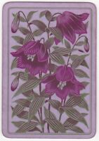 Playing Cards 1 Swap Card - Old Antique English Wide FOXGLOVE FLOWERS Flower 1