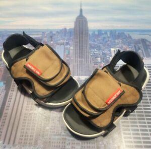 Nike Air Jordan LS Slide Sandal Archaeo Brown/Habanero Red Men Size 7 CZ0791 201