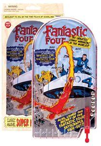 Schylling MARVEL COMICS FANTASTIC FOUR 4 TIN PINBALL NB Metal NEW