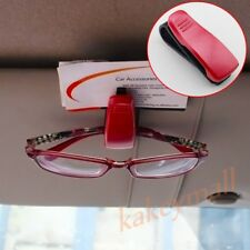 Red Sun Visor Glasses Clip Holder Card Ticket Spectacles Inner Auto Accessories