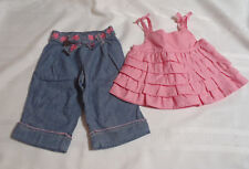 Gymboree 6-12 Month Bubbly Baby Pink Ruffled Shirt Pants Outfit NWT