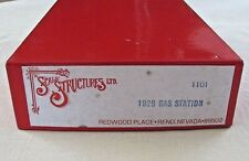 1929 GAS STATION~HO Scale~Scale Structures, Ltd.~#1101~USA~Opened box~Sealed bag