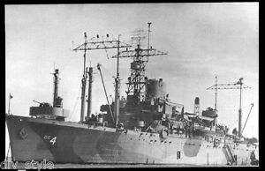USS Ancon AGC-4 postcard US Navy amphibious flagship