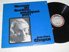 JEAN-MARC CHAPUT Reussir Au Quebec Pourquoi Pas! LP 1977 Telson Records VG+/VG