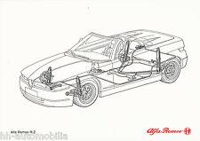 Bildprospekt Alfa Romeo RZ Zagato 1992 Stoßdämpfer Prospekt brochure Auto PKWs