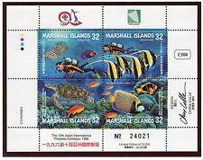 Marshall Islands, Scott 614, Fish, Turtle, Marine, 1996, NH