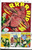 Original 1977 Green Arrow World's Finest 245 DC Comics color guide art pg 36:JLA
