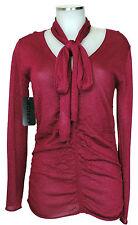 Apriori Top, Shirt in Strick 38 eleg. Pullover wein rot mit Glitzer neu m.E.