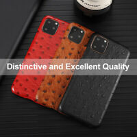 Leather Phone Case  Back Cover Ostrich Pattern For Apple iPhone X/XS/XR/XSMAX