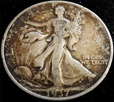 1937 Eeuu Plata Half-dólar $1/2 Moneda