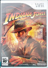 INDIANA JONES AND THE STAFF OF KINGS Nintendo Wii Game 2009-PAL-