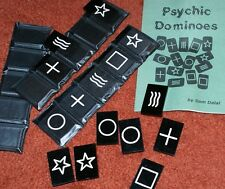 Psychic Dominoes --engraved lucite --must-have mental magic utility item    TMGS