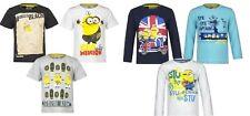 Neu Pulli Pullover Shirt Langarm Jungen Mädchen T-Shirt Minions Minion 98 - 128