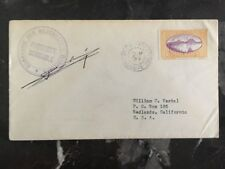 1933 Guadeloupe Paquebot Boussole Cover To Redlands Ca Usa