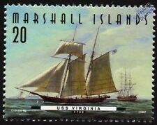 USS VIRGINIA (1798) USRC Schooner Warship Stamp (1997)