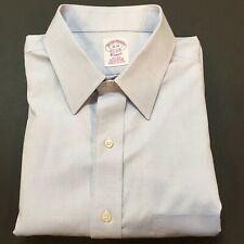 BROOKS BROTHERS Dress Shirt Men's 16 - 34 Classic Supima Cotton Light Blue
