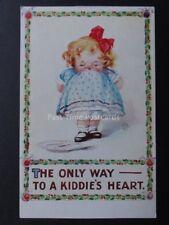 Christmas Card KUTE KRISTMAS KIDDIES c1910 Art by Kit Kay Pub by Inter Art