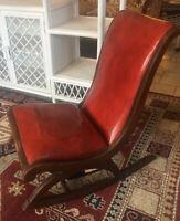 Antique Empire Curule Ladies Rocker Sewing Nursing Chair Vintage Victorian