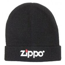 *** Zippo Black  Beanie Hat Embroided  Wool Bargain ***